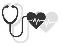 Stethoscope with heart icon
